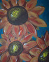 Blue sunflowers_200